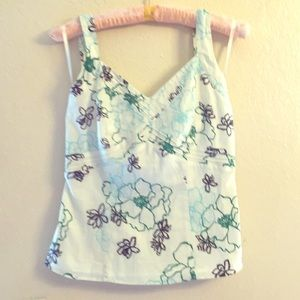 Ann Taylor Size 2 Floral Halter Top. New w/ Tags.